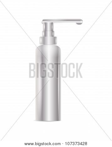 Silver Bottle For Liquid Soap