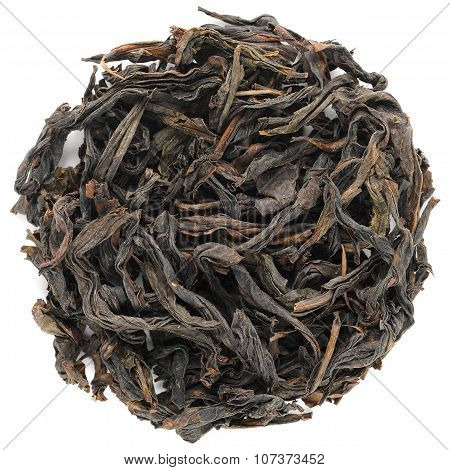 Shui Xian Wuyi Shan Roasted Oolong Round Shape Isolated