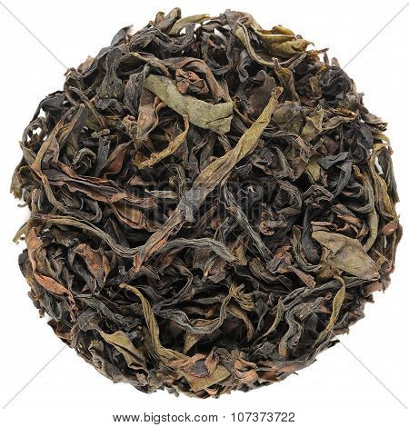 Qi Zhong Wuyi Shan Roasted Oolong Round Shape Isolated