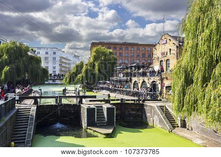 Camden Lock, Hampstead Road Locks is a twin manually operated lock on the Regent's Canal in Camden T