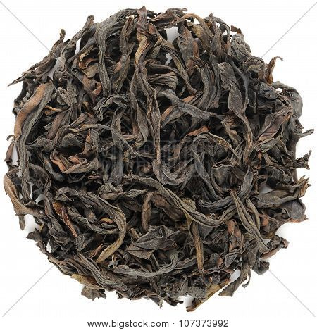 Huang Guan Yin Wuyi Shan Roasted Oolong Round Shape Isolated