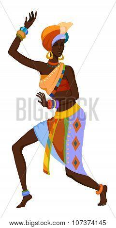 Ethnic Dance African Woman