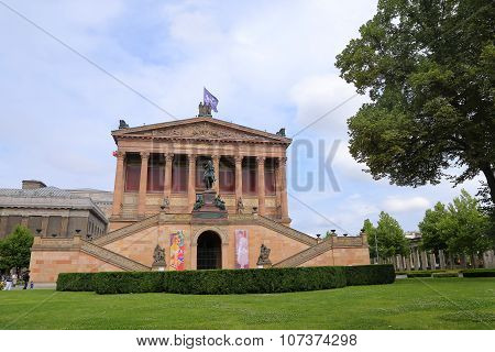 Berlin, Germany - July 27, 2015: Museum Island Which Includes Alte Nationalgalerie (old National Gal