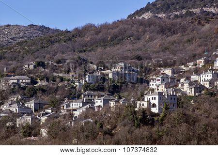 Panoramic views of village Vitsa, Zagori, Epirus