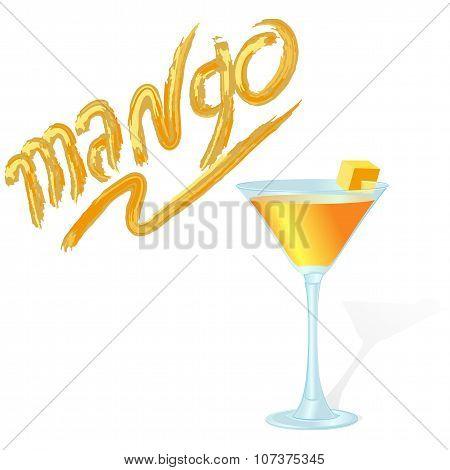 Fresh Mango Cocktail And An Inscription