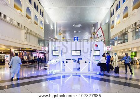 Dubai International Airport - 9 March 2015. Dubai International Airport