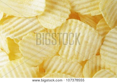 classic potato chips background