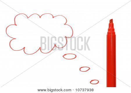 The Cloud Drawn By A Red Marker