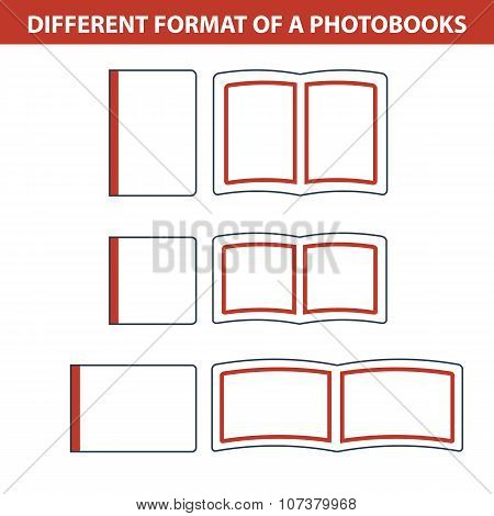 Simple Icons Of Formats Photobook