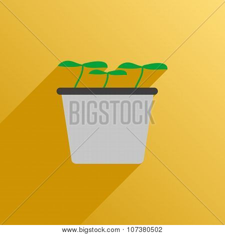 Icon Pot With Plants