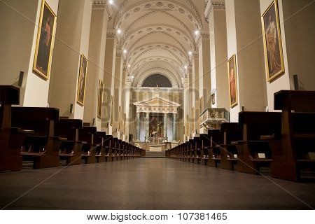Internal Of Cathedral Of Vilnius (lithuania)