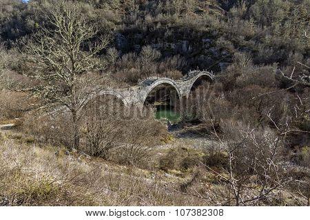 Bridge of Plakidas or Kalogeriko, Pindus Mountains, Zagori, Epirus