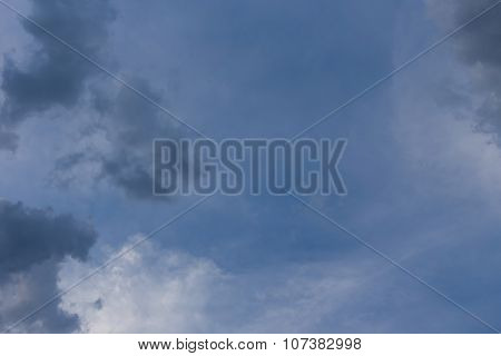 Black Cloud On Blue Sky