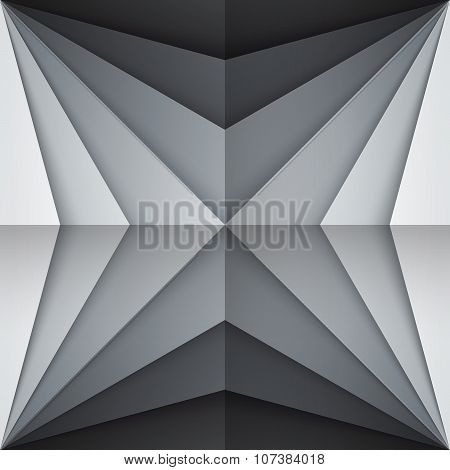 Black and gray rectangle shapes abstract background