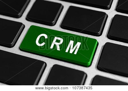 Crm Or Customer Relationship Management Button On Keyboard