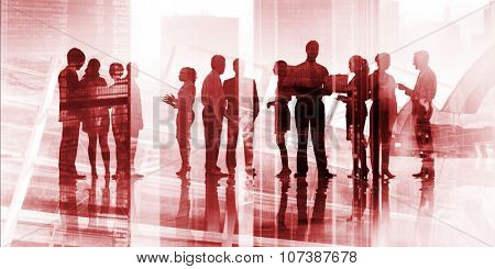 Business People Corporate White Collar Worker City Concept