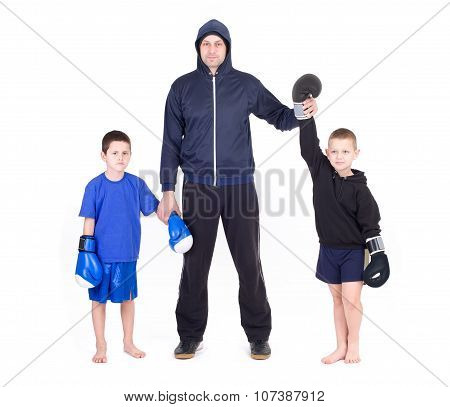kickboxing kids with instructor