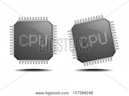 detailed illustration of a central processing unit, eps10 vector