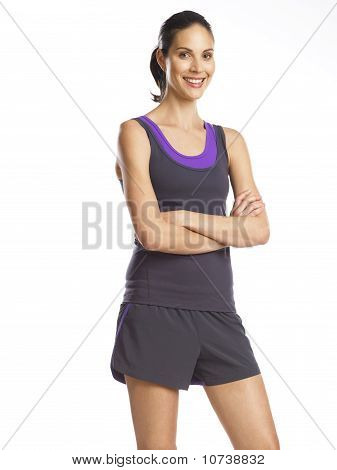 Beautiful, Smiling Young Woman Ready For Sports