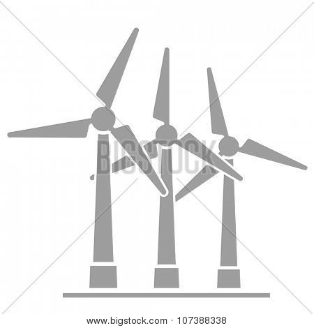 minimalistic illustration of wind generators, eps10 vector