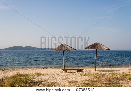 Beach In Athos, Chalkidiki, Northern Greec