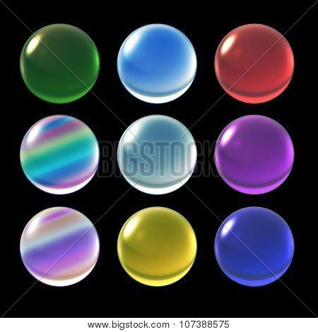 Crystal Ball Christmas Color Set