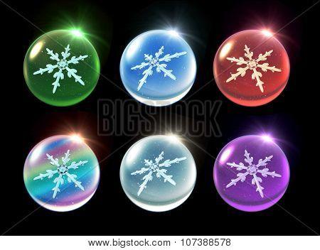 Crystal Ball Christmas Set Flare