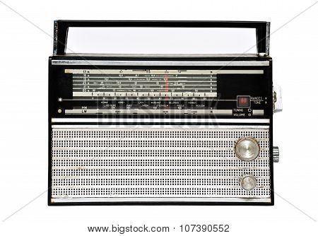 1960S Retro Radio Isolated Over White