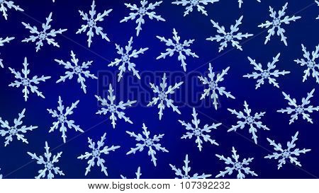 Snowflakes Background Rotation Blue