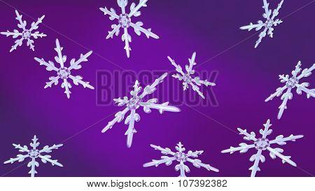 Snowflakes Christmas Background Purple