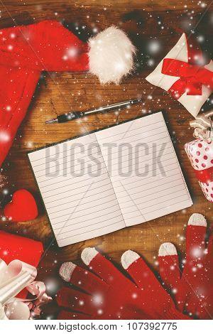 Santa Claus Notebook For Good Children Wish List