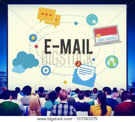 Email Message Communication Connection Concept