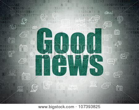 News concept: Good News on Digital Paper background