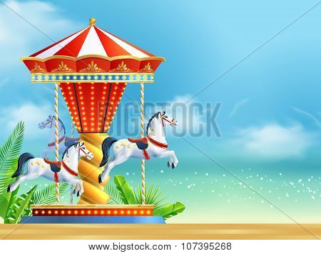 Realistic Carousel Background