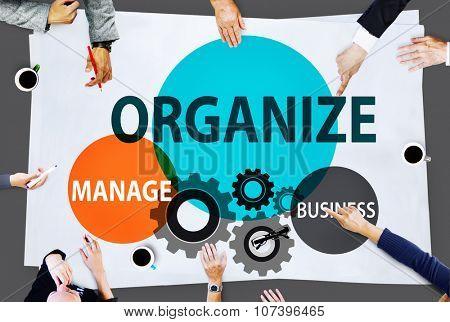 Organize Manage Business Collaboration Community Concept