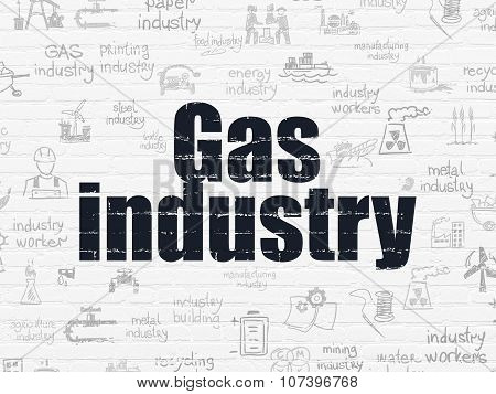 Industry concept: Gas Industry on wall background