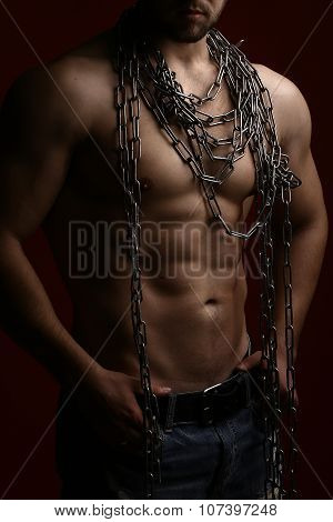 Muscular Man With Rope