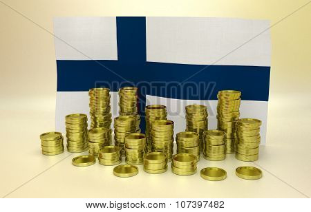 finance concept with Finnish flag