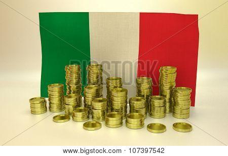 finance concept with Italian flag