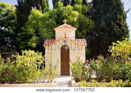 Beautiful chapel in Monastery of Saint George Alamanou