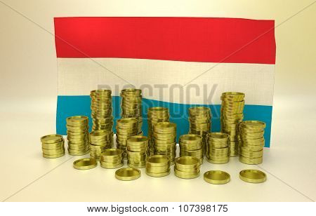 finance concept with Luxembourgeois flag