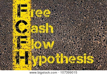 Business Acronym Fcfh As Free Cash Flow Hypothesis