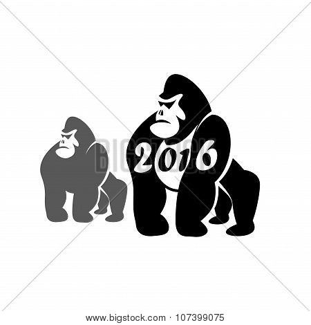 Merry Christmas from gorilla