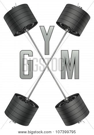 Gym logo in 3d style.