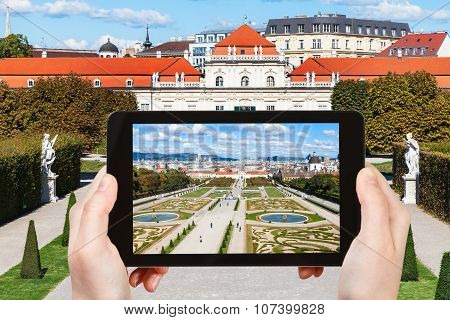Snapshot Of Garden And Lower Belvedere Palace