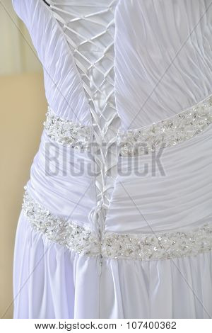 Wedding Dress With  Tighting Fabric