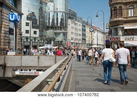 Sthephanplatz Metro Station - Vienna