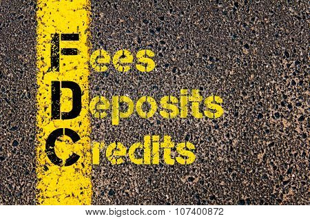 Business Acronym Fdc As Fees, Deposits, And Credits