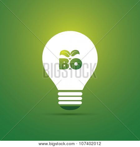 Bio Energy Concept Design - Bulb Icon