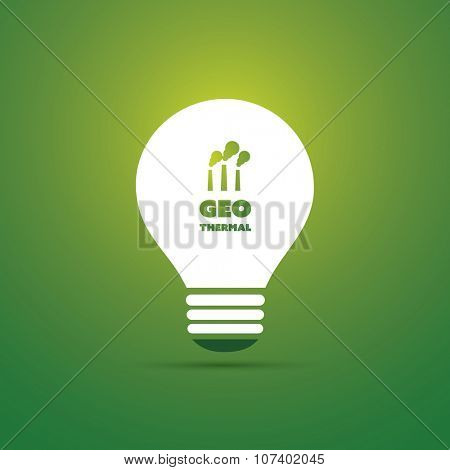 Geothermal Energy Concept Design - Bulb Icon